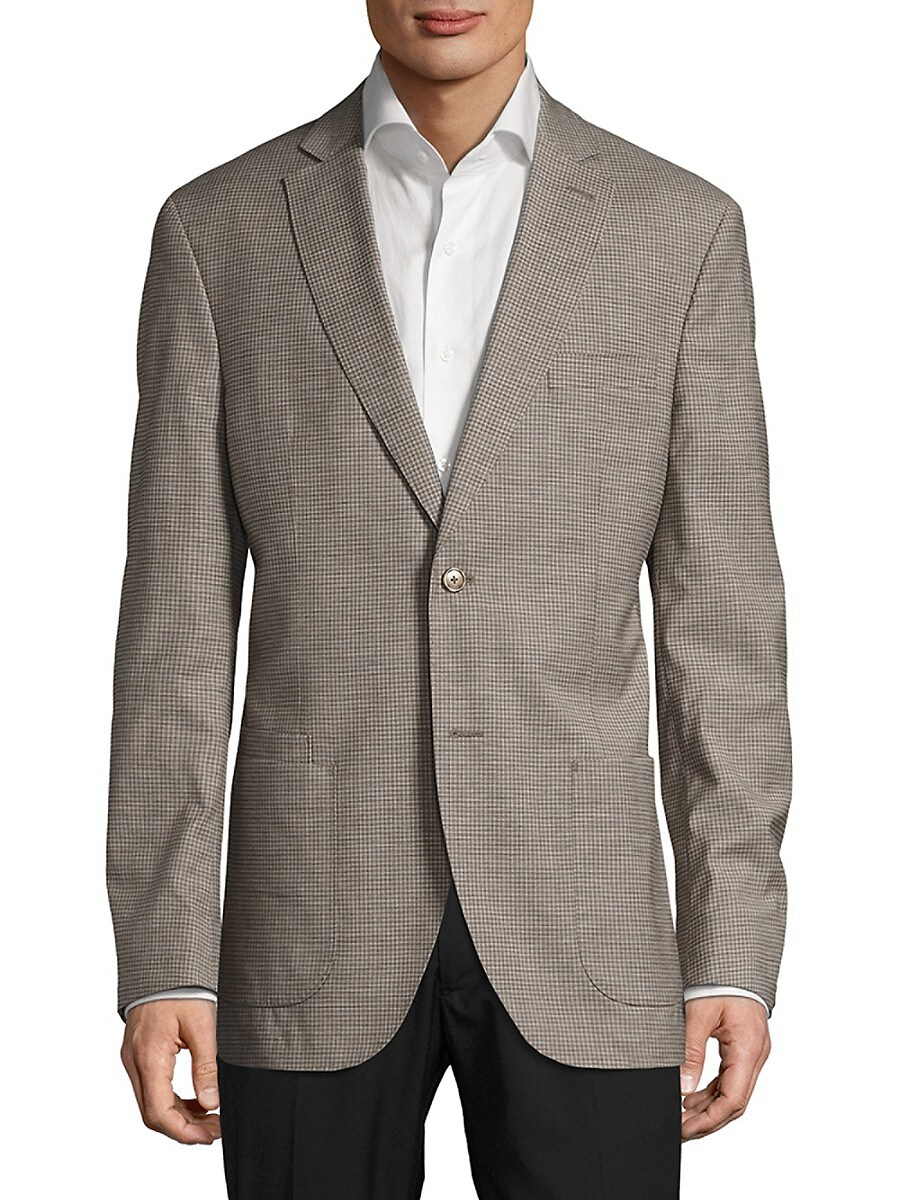 Men's Checked Notch-Lapel Jacket