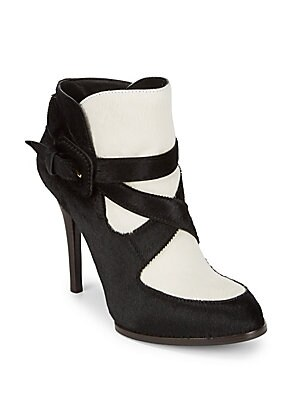 Strappy Calf Hair Boots
