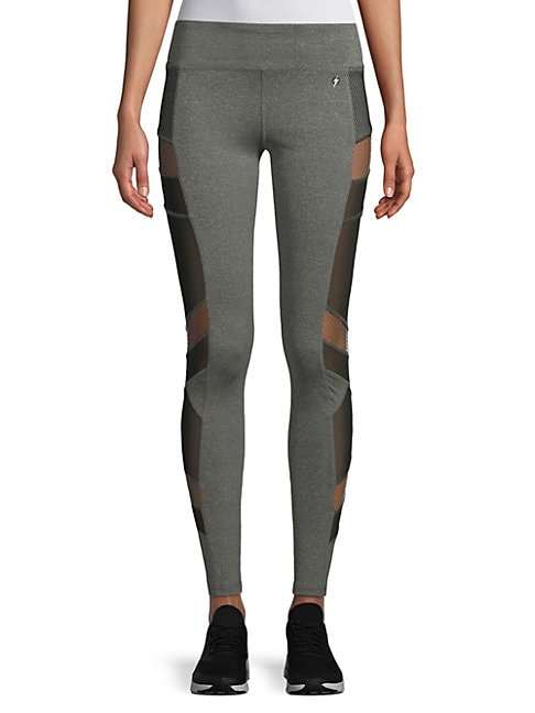 ELECTRIC YOGA | Mesh Panel Leggings | Goxip