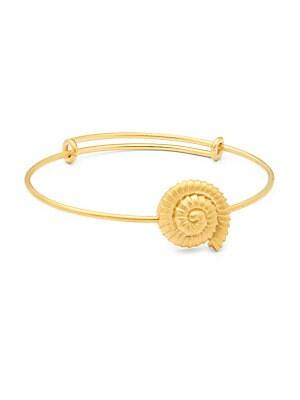 Matte Goldtone Charm Bracelet