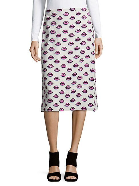 Gonna Sable Printed Knee-Length Skirt
