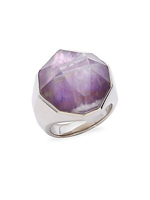 Michael Aram  925 STERLING SILVER FACETED RING