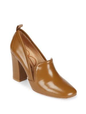 Bill Blass  Laverne Leather Closed Toe Pumps