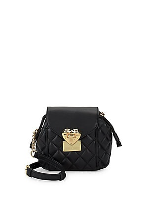 Leather Shoulder Bag by Moschino
