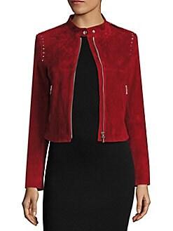 Theory - Bavewick Studded Suede Jacket