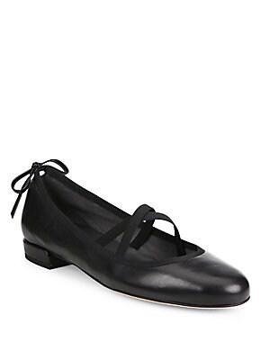 477b202b0d13 Stuart Weitzman - Bolshoi Leather Ballet Flats - saksoff5th.com
