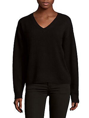 Batwing Deep V-Neck Cashmere Sweater