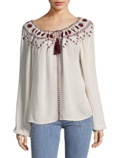 Vandary Embroidered Blouse by Club Monaco