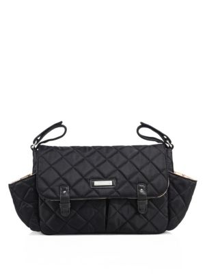 STORKSAK Quilted Stroller Organizer Bag in Black
