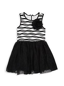 a4d6977d8 Product image. QUICK VIEW. Pippa & Julie. Little Girl's Sleeveless Mesh  Dress