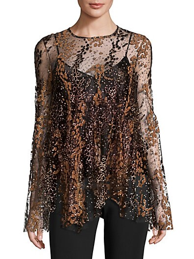a87fbbfbeb Opening Ceremony Enamel Glitter Tulle Top ...