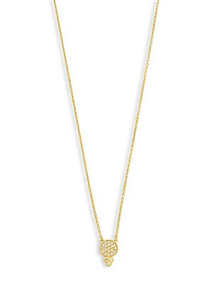 Freida Rothman  CLASSIC CUBIC ZIRCONIA AND STERLING SILVER BINDHI DROP NECKLACE