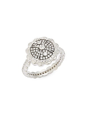 CLASSIC CUBIC ZIRCONIA AND STERLING SILVER HOLIDAY RINGS