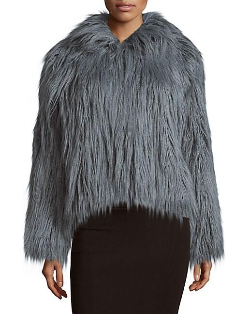 DONNA SALYERS' FABULOUS-FURS | Fashionista Faux Fur Jacket | Goxip