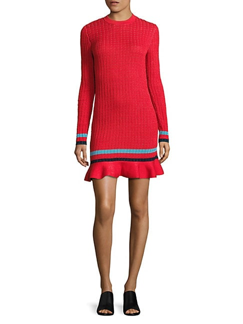 Smocked Sweater Dress