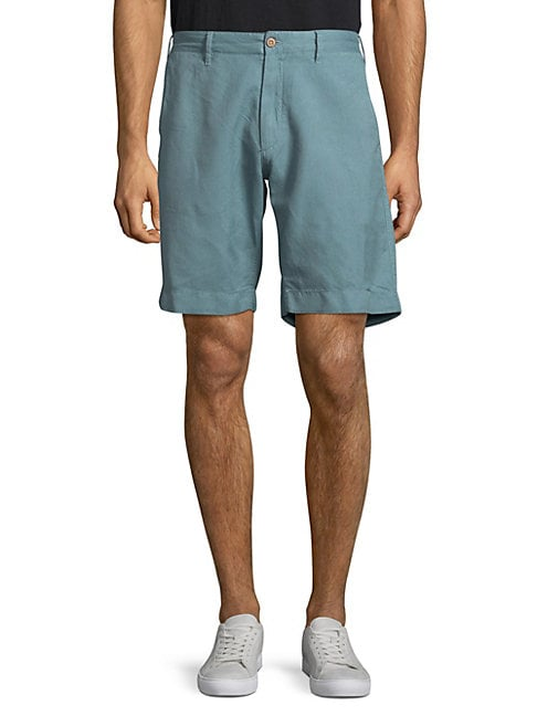 FAHERTY BRAND | Plain Buttoned Shorts | Goxip