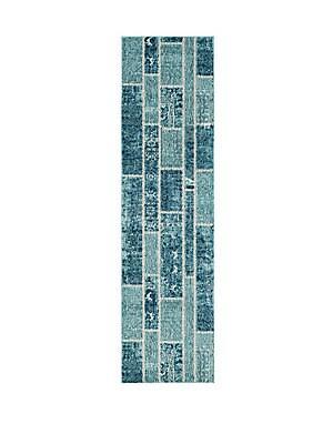 Rectangular Tile Patterned Rug