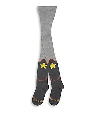 GIRL'S COLORBLOCK STAR TIGHTS
