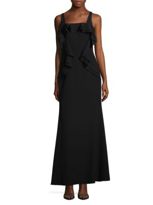 Js Collections  Sleeveless Flounce Evening Gown