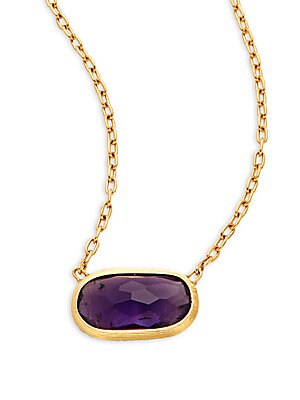 Delicati Amethyst & 18K Yellow Gold Necklace