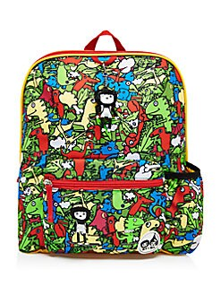 Zip & Zoe - Boy's Printed Backpack