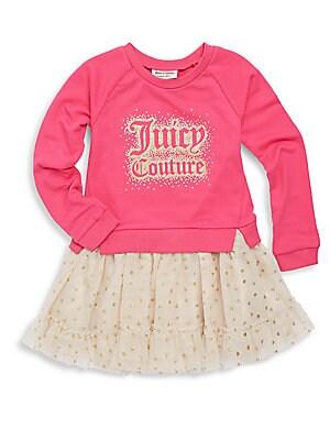 Little Girl's Ribbed Roundneck Dress