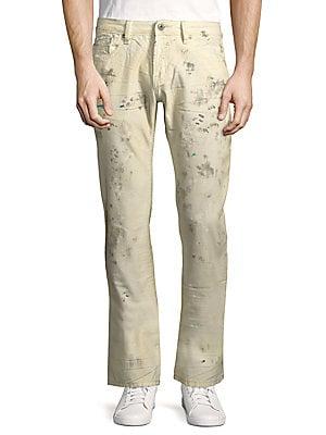 Cotton Slim Straight Leg Jeans