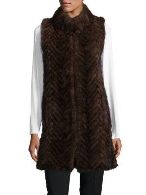 Belle Fare Sleeveless Mink Fur Tunic Vest