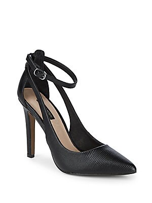 Cut Out Classic Leather Pumps
