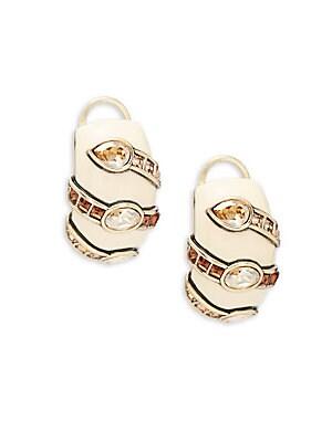 Smoke Ivory Crystal Earrings