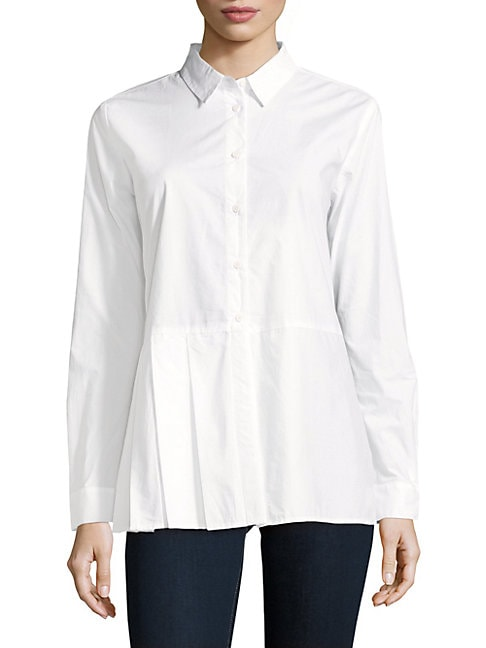 Cotton Long-Sleeve Top