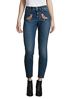 Peserico - Embroidered Skinny Jeans