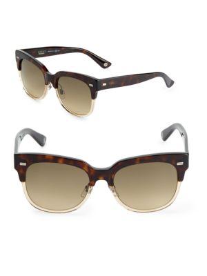 Gucci  54MM Printed Semi-Rimless Sunglasses