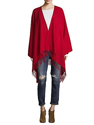 Fringed Wool Ponchos
