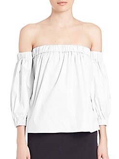 325b66b8c83ed2 QUICK VIEW. Milly. Off-The-Shoulder Blouse