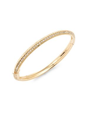 Adriana Orsini  Clear Crystal & Gold Bangle Bracelet