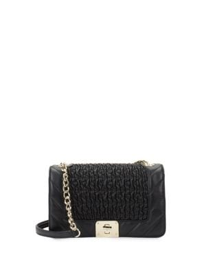 authorized site a few days away popular stores Karl Lagerfeld Paris - Lara Quilted Leather Shoulder Bag ...
