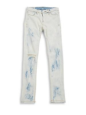 Girl's Ripped Denim Jeans