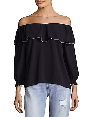 Off Shoulder Ruffle Top