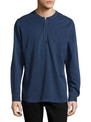 Orlebar Brown  Textured Long-Sleeve Cotton Top