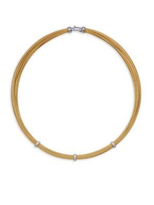 Alor Diamond & 18K White Gold Necklace