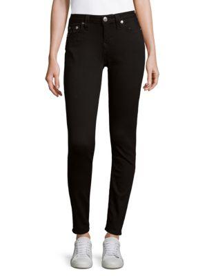 Halle Super-Skinny Ankle Jeans, Black