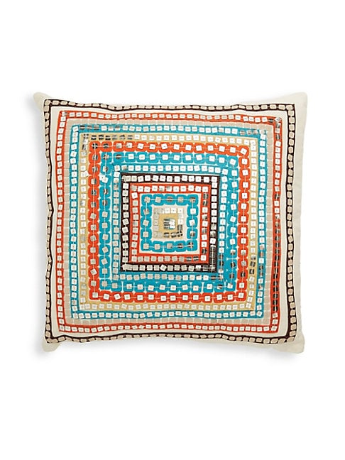 Embellished Cotton Throw Pillow