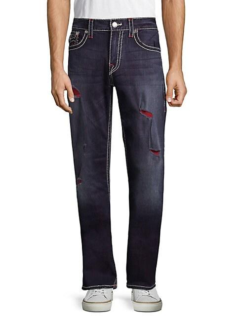 Big T Straight-Leg Ripped Jeans