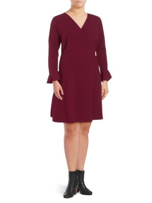Alexia Admor Plus V-Neck Wrap Dress