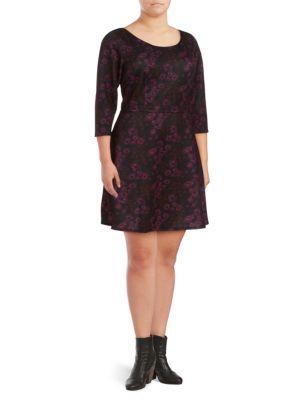 Alexia Admor Plus Floral Fit-&-Flare Dress