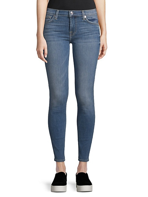 7 FOR ALL MANKIND | Gwenevere Washed Jeans | Goxip