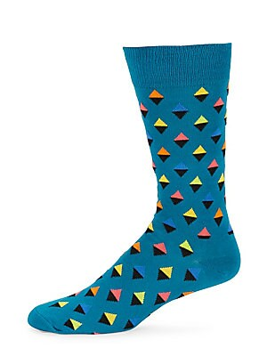 Abstract Triangle Crew Socks