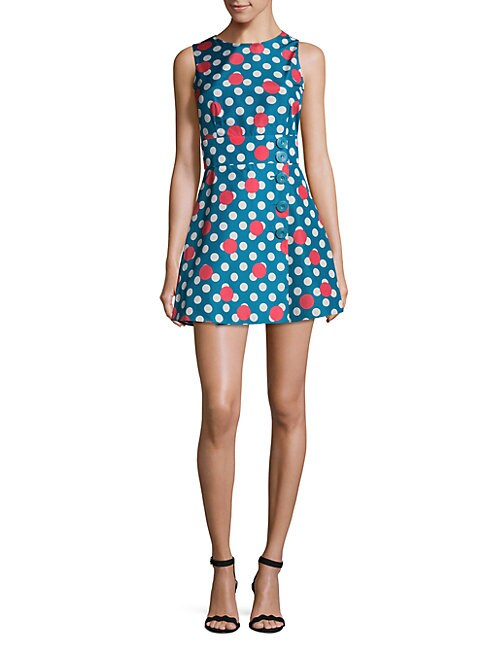 Dotted Fit-&-Flare Dress