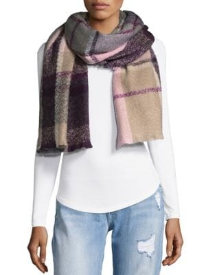 Fraas BOX PLAID SCARF